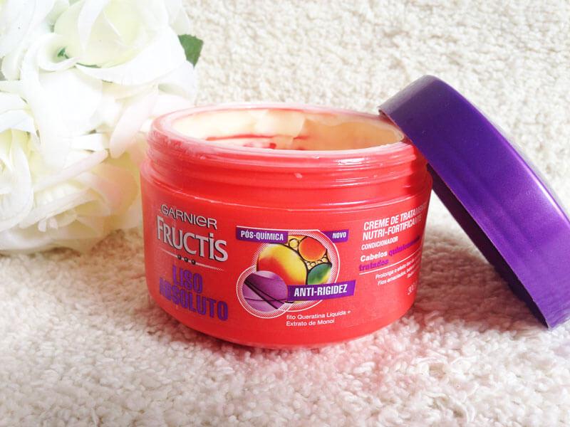 Creme de Tratamento Liso Absoluto Pós-Química Garnier Fructis