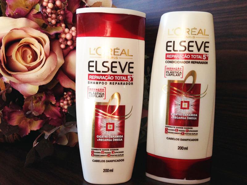 Shampoo e Condicionador Plástica Capilar Elseve juro valendo ju lopes