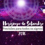 Horóscopo de Setembro de 2016 Para Todos os Signos