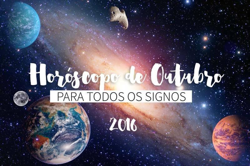 horóscopo de outubro de 2016