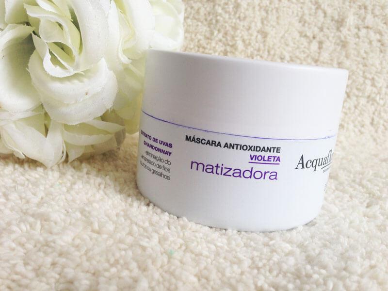 máscara matizadora acquaflora antioxidante juro valendo