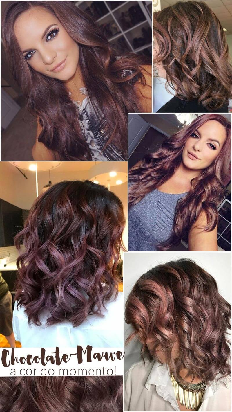 Chocolate Mauve Hair A Cor Do Momento Juro Valendo