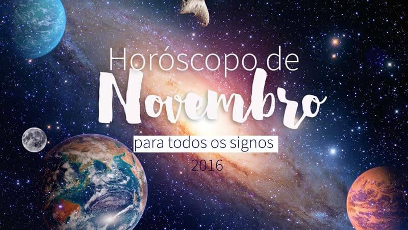 horóscopo de novembro de 2016