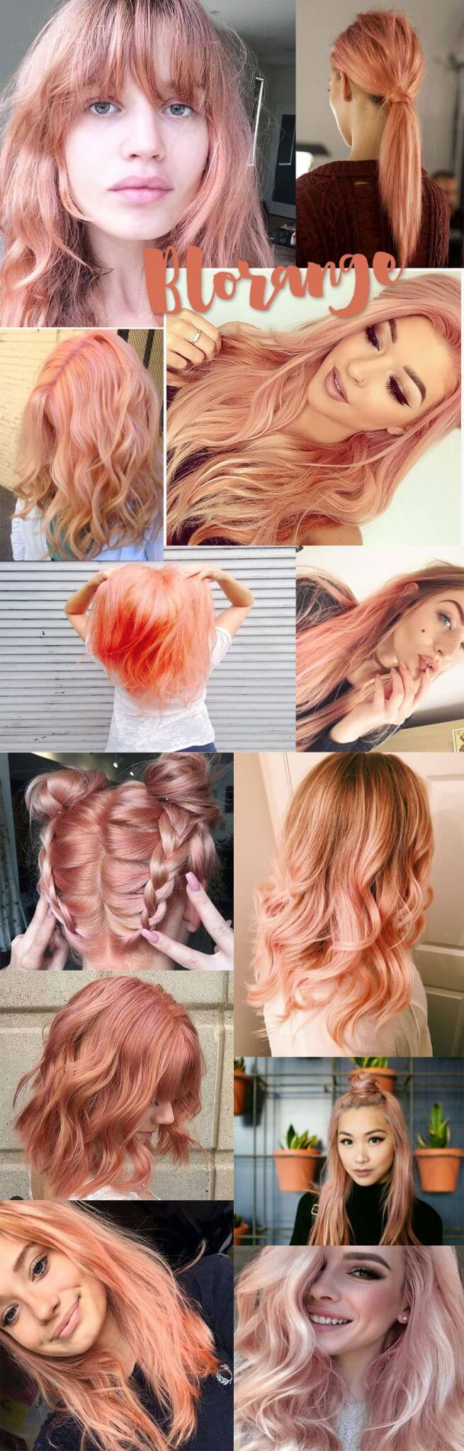 blorange colour hair