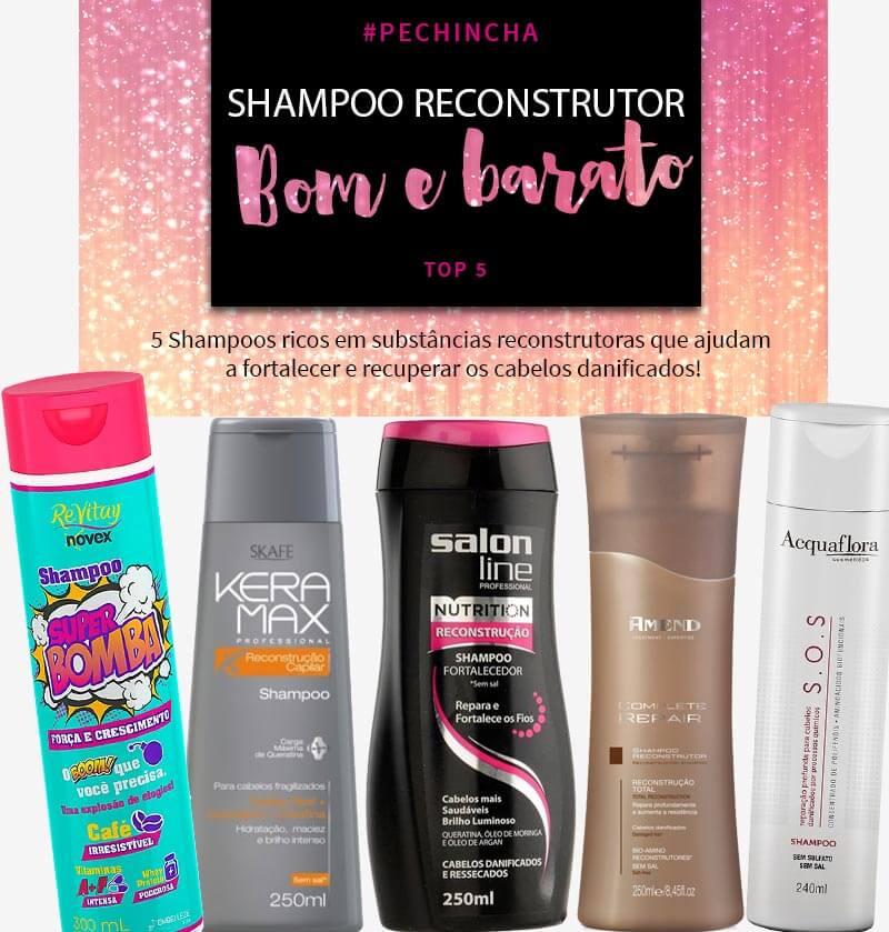 shampoo reconstrutor bom e barato juro valendo