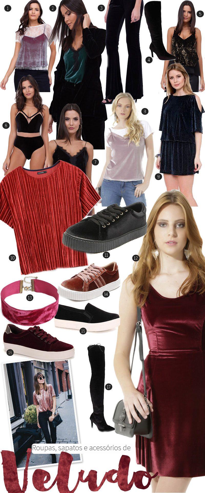 comprar roupas de veludo