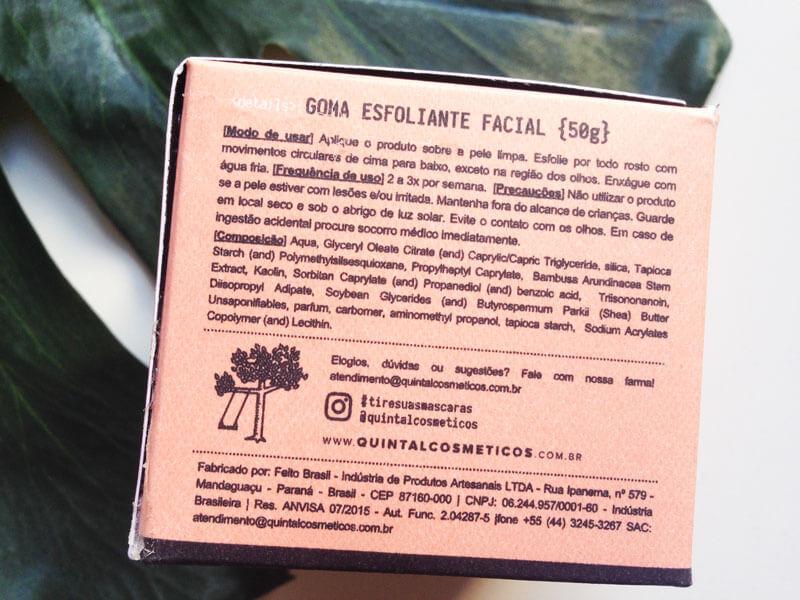Goma Esfoliante Facial Quintal Rochas