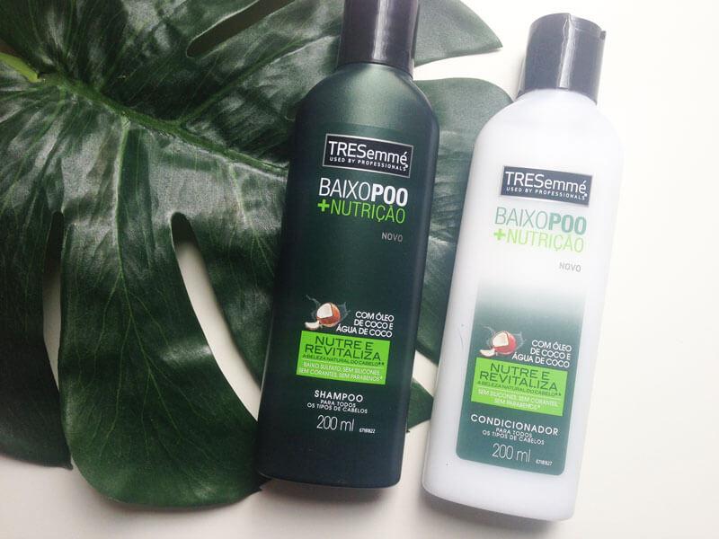 baixo poo tresemmé nutrição shampoo condicionador