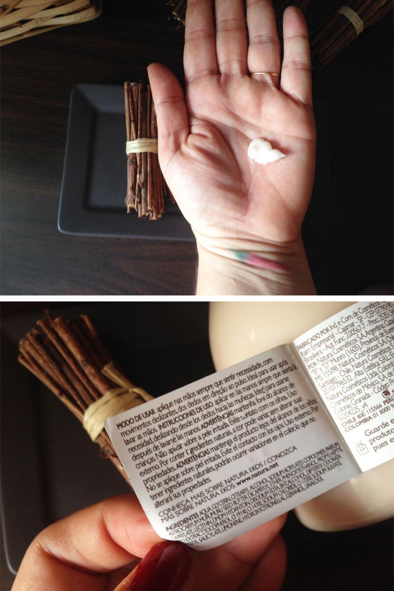 Conjunto de Cuidados Para As Mãos Natura Ekos cumaru