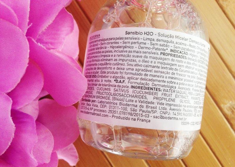 Sensibio H2O Solução Micelar Demaquilante Bioderma
