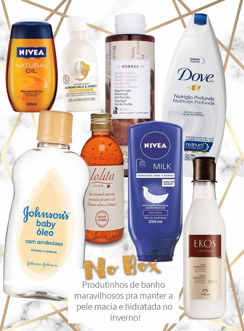 produtos para banho no inverno