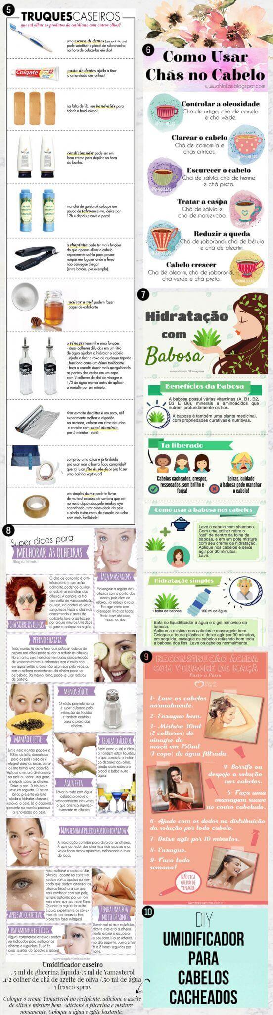 receitas caseiras beleza cabelo