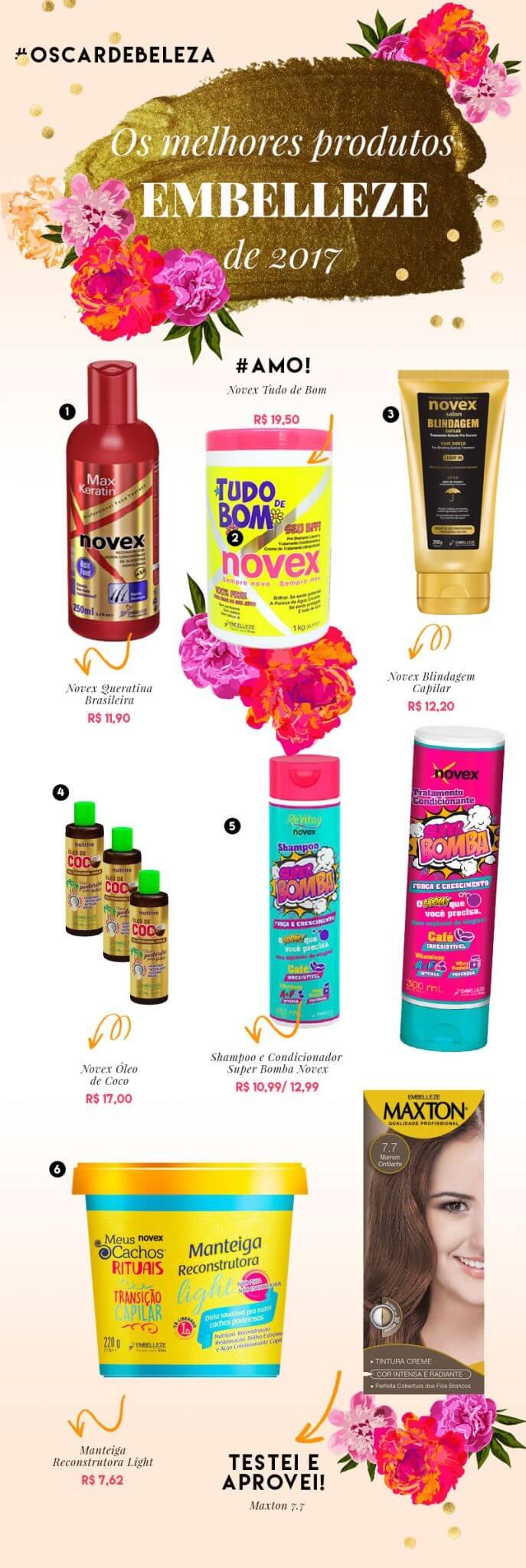 melhores produtos embelleze 2017 juro valendo