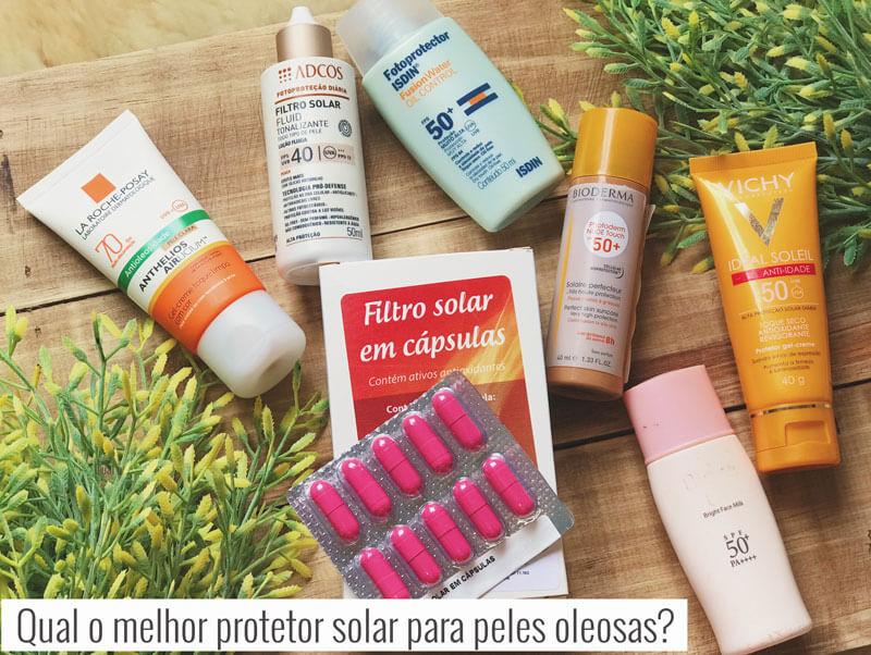 melhor protetor solar para pele oleosa
