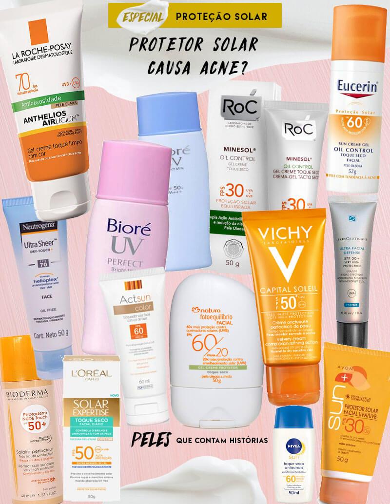 Protetor Solar Causa Acne