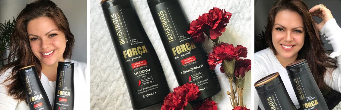 Força com Pimenta Bio Extratus: Shampoo e Condicionador