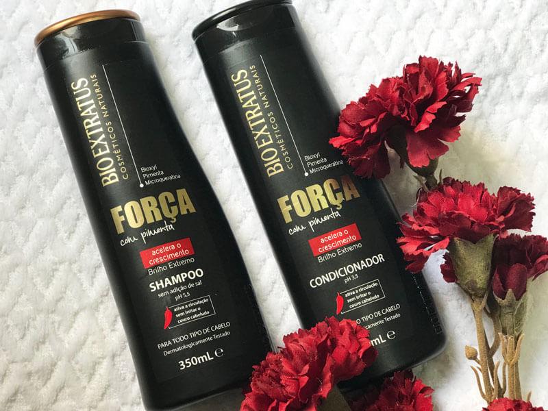 força com pimenta bio extratus shampoo e condicionador