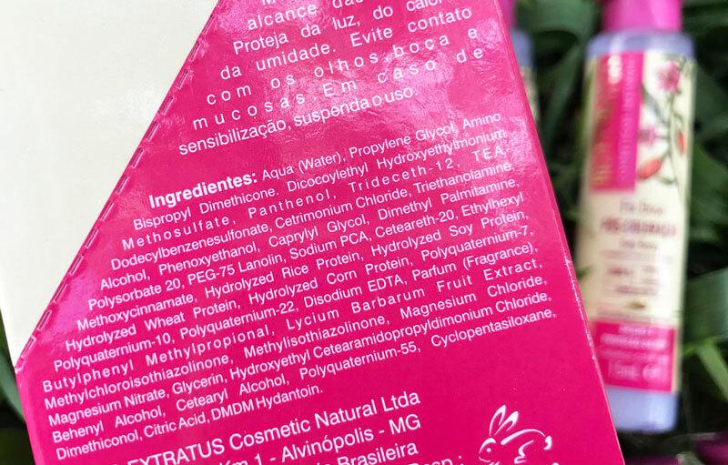 fix dose pós coloração bio extratus cabelos coloridos