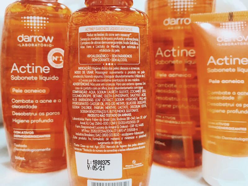 resenha actine sabonete líquido