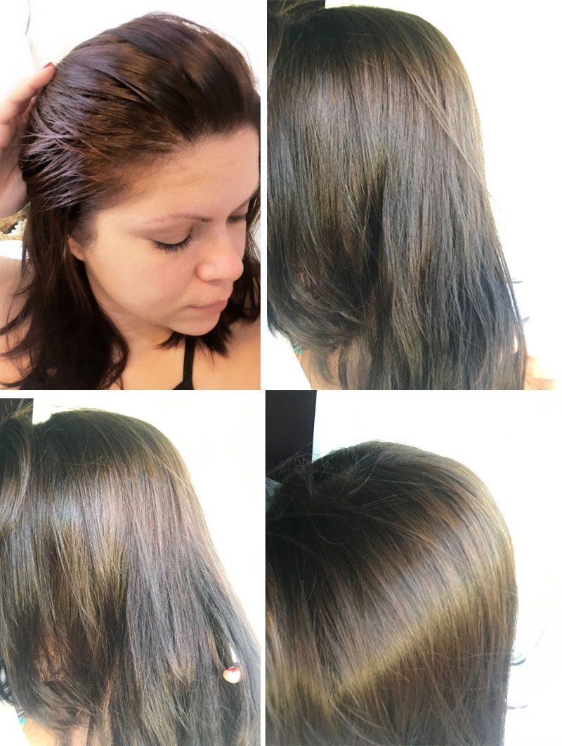 antes e depois do detox
