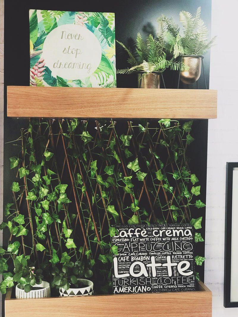 decoração cantinho do café
