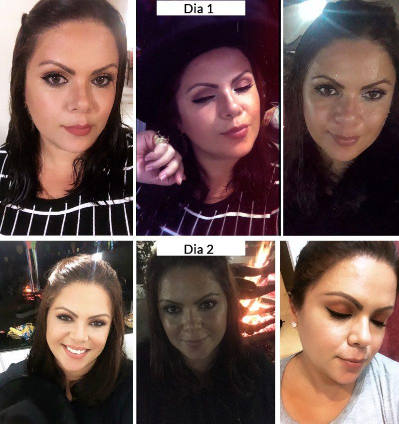 maquiagem para noite antes e depois