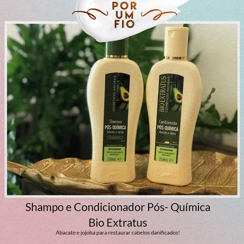 shampoo e condicionador pós química bio extratus