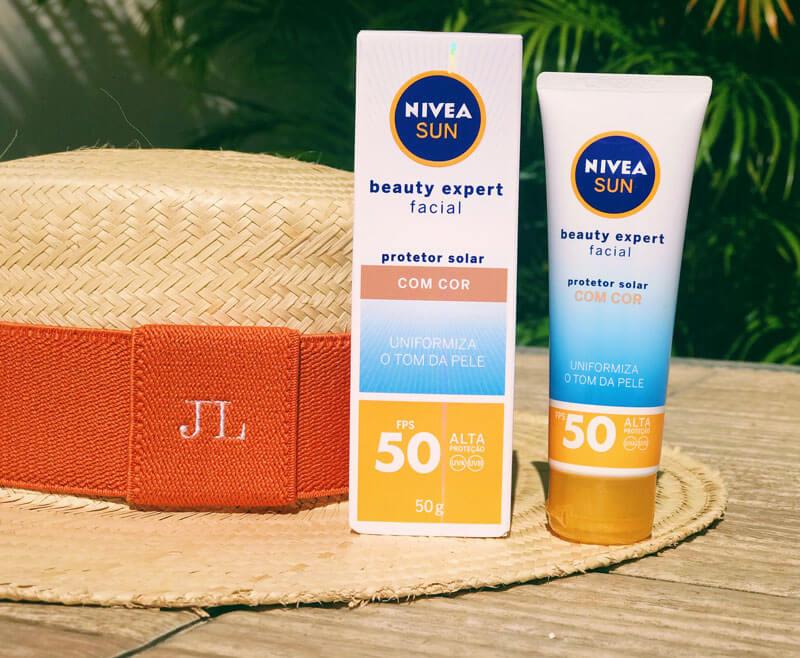 novo protetor solar nivea com cor