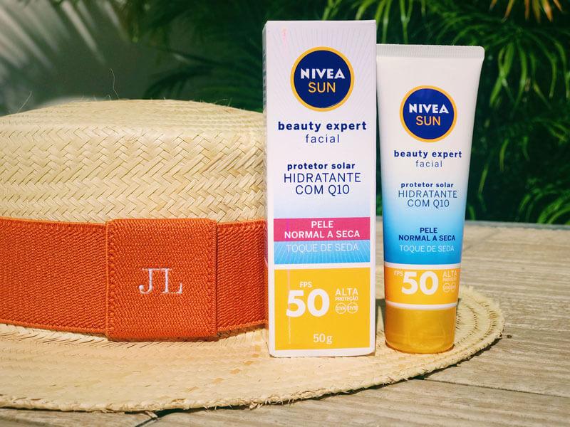 novo protetor solar nivea pele normal seca  NIVEA Sun Beauty Expert