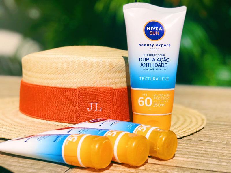 novo protetor solar nivea corporal