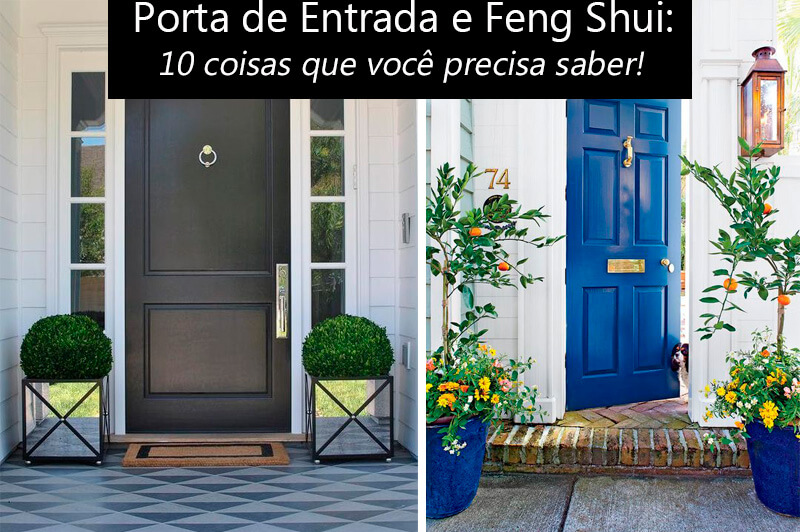 porta da frente no feng shui
