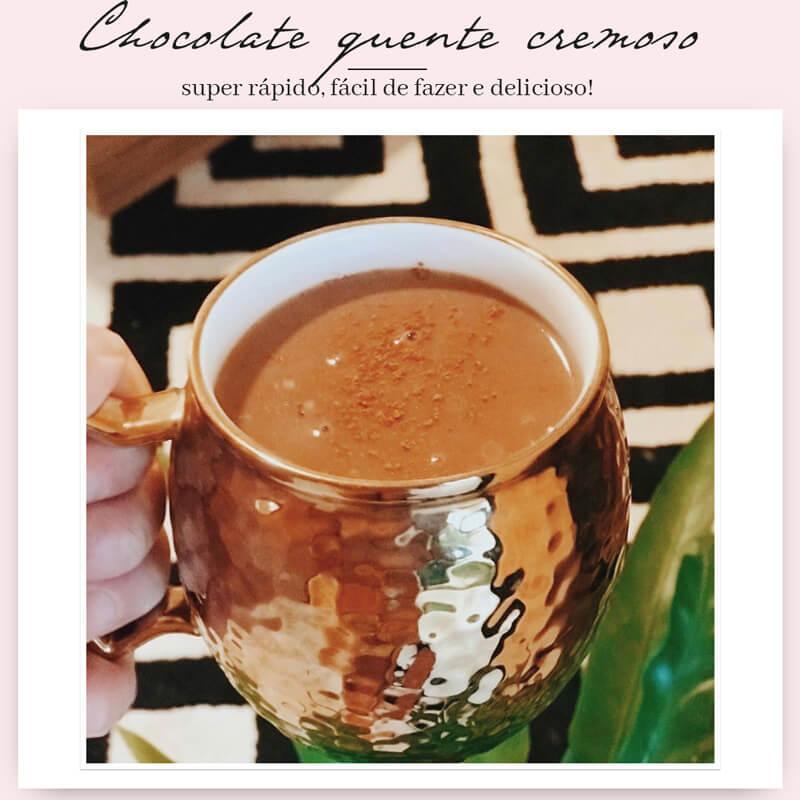 como fazer chocolate quente cremoso receita
