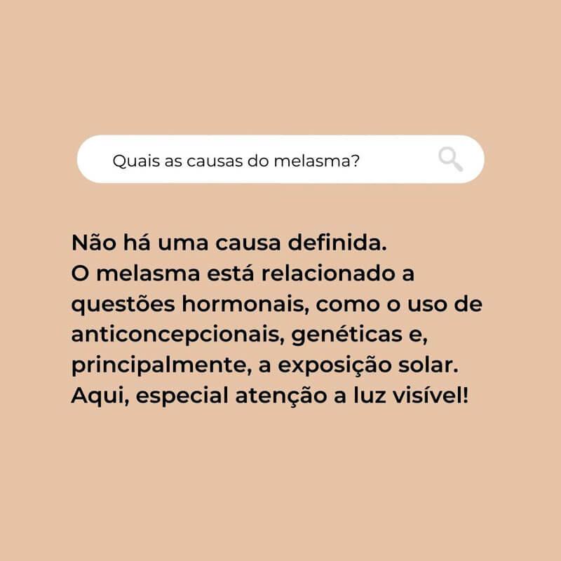 o que causa melasma