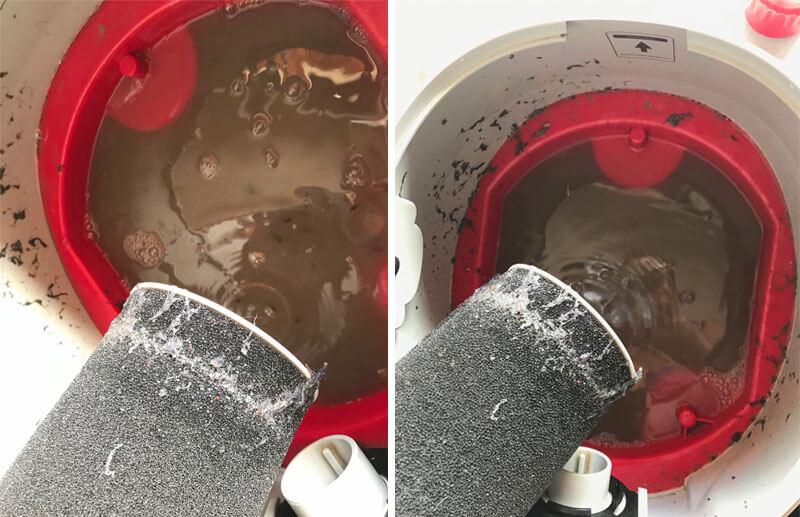 sujeira extraída